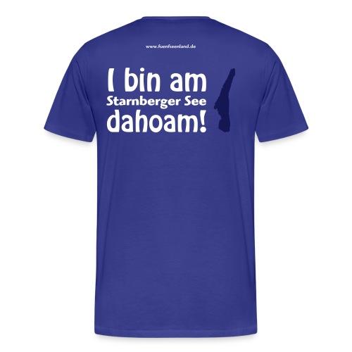 I bin am Starnberger See dahoam 2c - Männer Premium T-Shirt