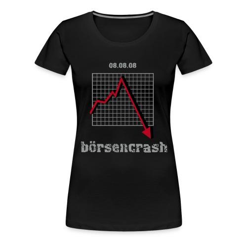 boersencrash_girlie_black - Frauen Premium T-Shirt