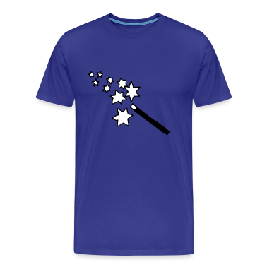 Sky magic - wand - wizard - witch  Men's Tees (short-sleeved)