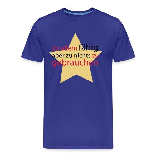 Himmelblaue Anmache - Männer Premium T-Shirt