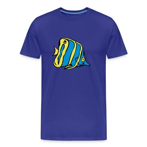 Blauer Wimpelfisch - Männer Premium T-Shirt