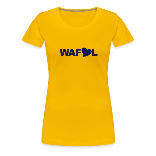 WAFLL (YOUR OWN TEXT & NUMBER) - Women's Premium T-Shirt