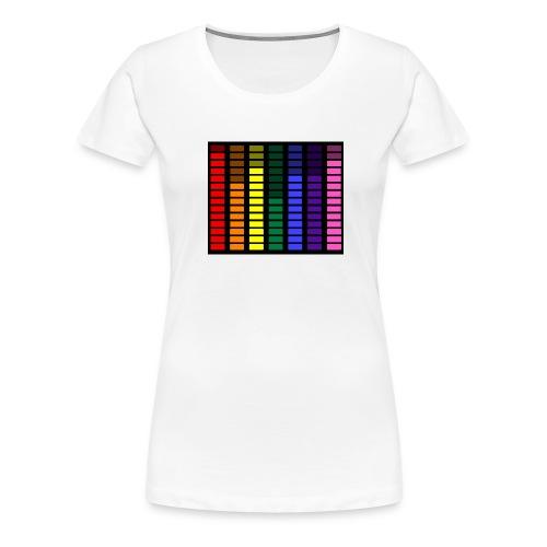 Rainbow Equalizer  - Women's Premium T-Shirt