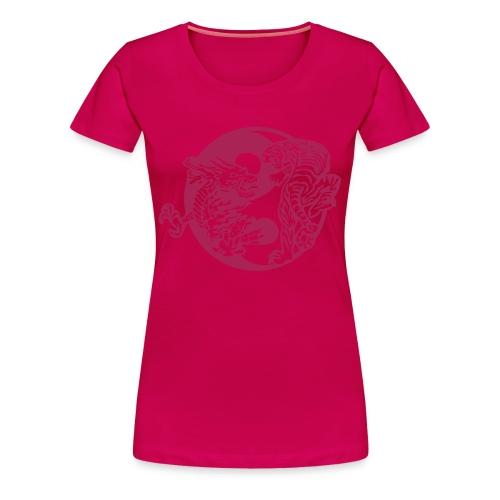 YinYang Dragon vs Tiger - Flera färger - Premium-T-shirt dam