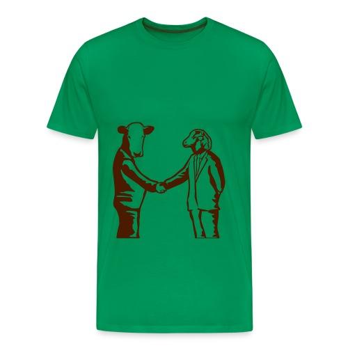 Kantoordieren - Mannen Premium T-shirt