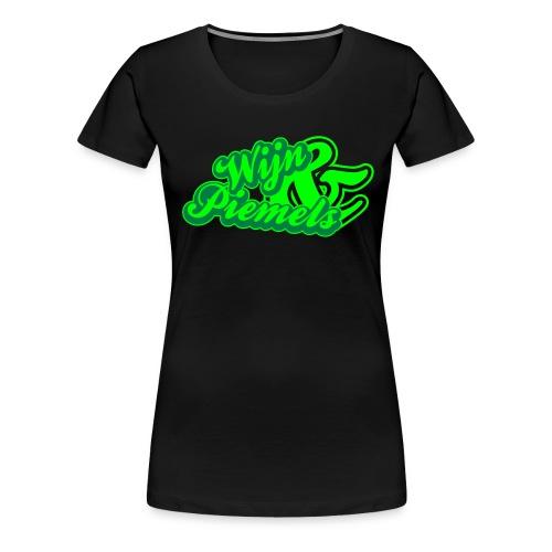 Wijn & Piemels, groen en neongroen flex - Vrouwen Premium T-shirt