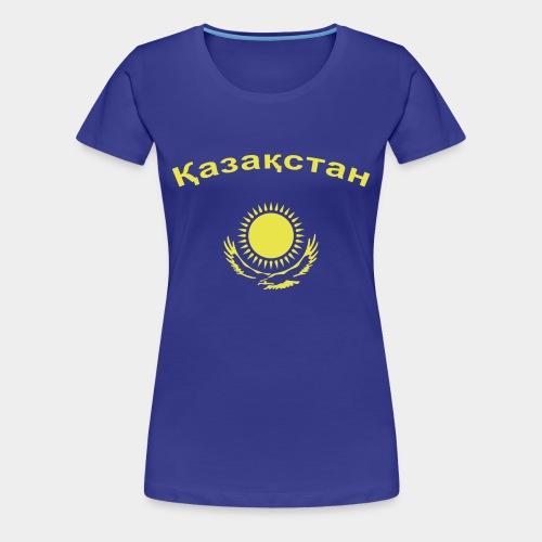 Казахстан (girl) - Frauen Premium T-Shirt