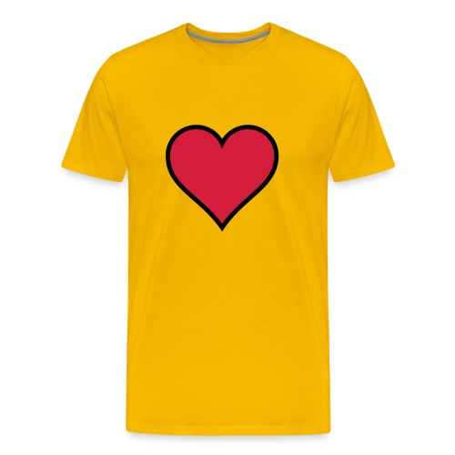 Outlined Heart - Men's Premium T-Shirt