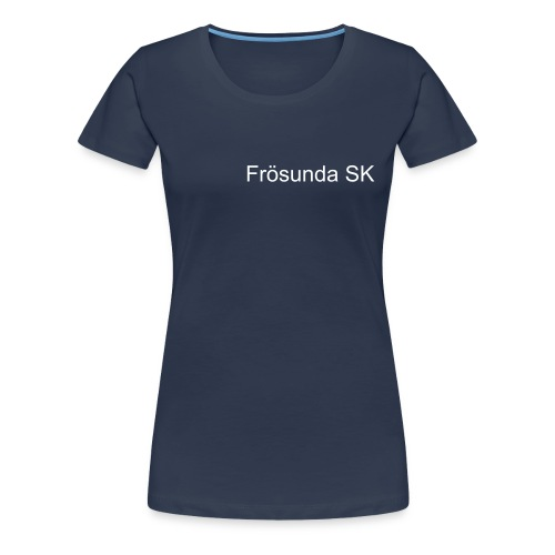 Frösunda SK basic text - Premium-T-shirt dam