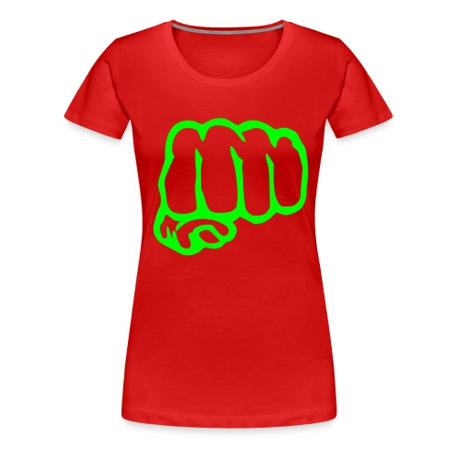 green fist - Women's Premium T-Shirt
