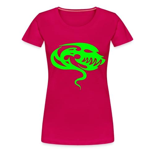 TribalAlien - Neongrön - Flera färger - Premium-T-shirt dam