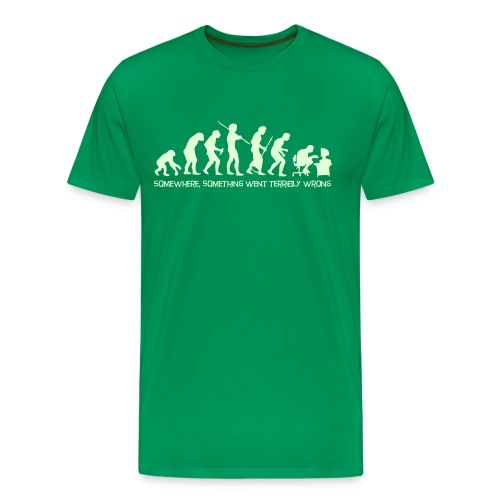 Evolution of Man - Funny T  - Men's Premium T-Shirt