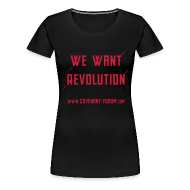 T-Shirts ~ Frauen Premium T-Shirt ~ We Want 2 Girlie (Front)