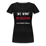 T-Shirts ~ Frauen Premium T-Shirt ~ We Want 1 Girlie (Front)