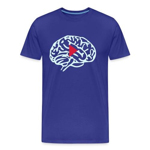 Press Play on Brain - Maglietta Premium da uomo