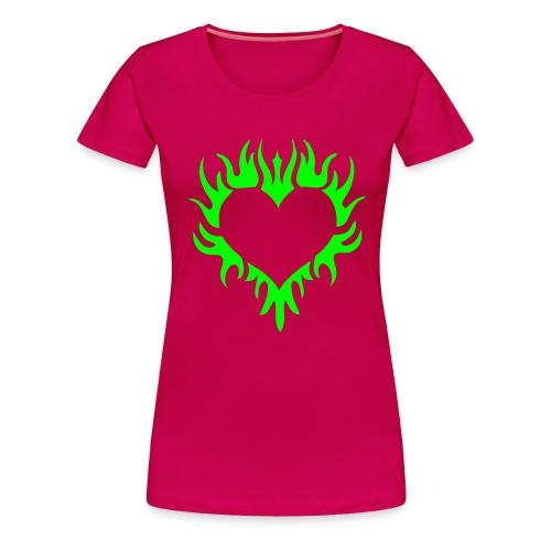 TribalHeart - Neongrön - Flera färger - Premium-T-shirt dam