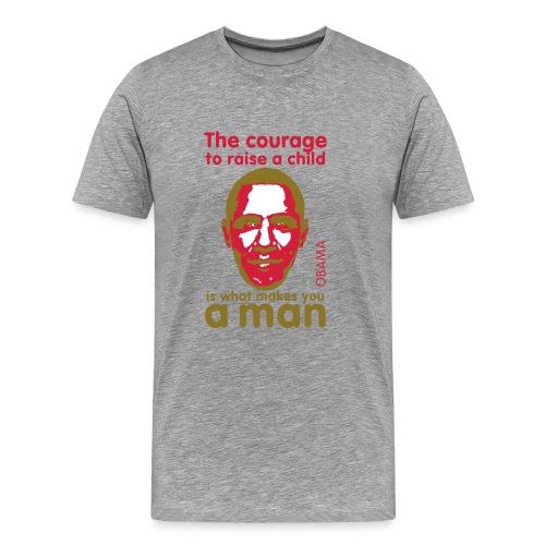 Shirt: Obama courage - Mannen Premium T-shirt