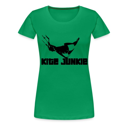 Girly Shirt Kite Junkie - Frauen Premium T-Shirt