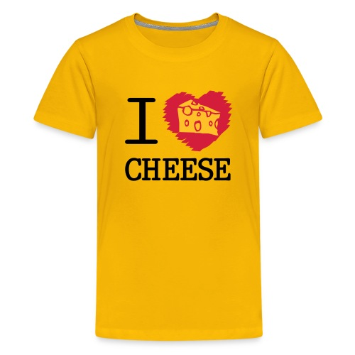 I love cheese - Teenage Premium T-Shirt