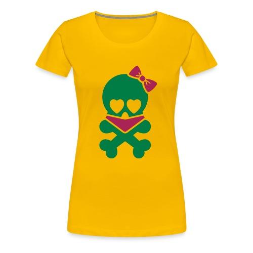 Skull Girl - Women's Premium T-Shirt