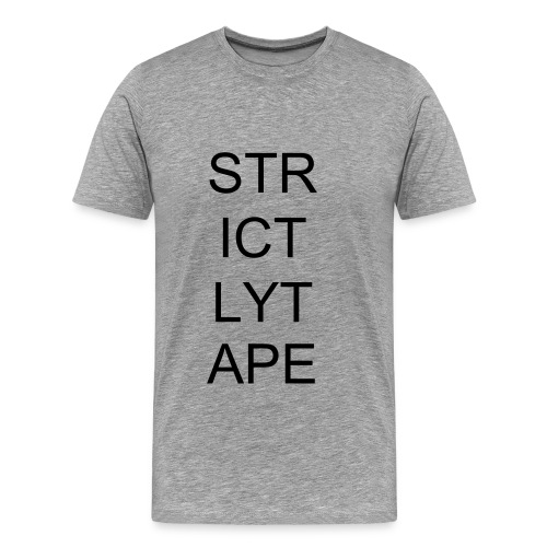 Strictly Tape - Ash - Men's Premium T-Shirt