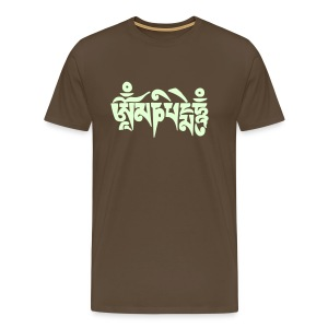 Om mani padme hum (Glow in the dark) - Männer Premium T-Shirt