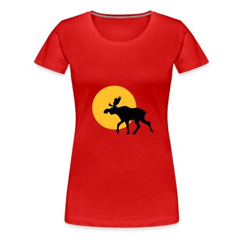 Elg i solnedgang - Premium T-skjorte for kvinner