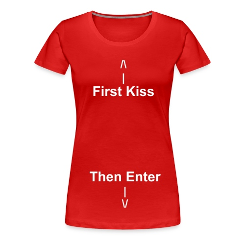 First Kiss - Premium-T-shirt dam