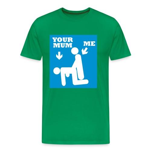 Mora di og jeg - Premium T-skjorte for menn