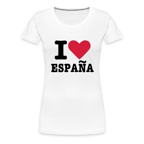 I Love Espana - Frauen Premium T-Shirt