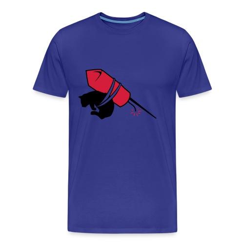 Cat rocket - Herre premium T-shirt