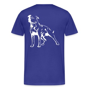 Blue/White Men's D.O.T.L Classic T-shirt - Men's Premium T-Shirt