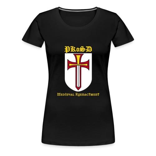Women's PKoSD Black T-Shirt (Flock Print) - Women's Premium T-Shirt