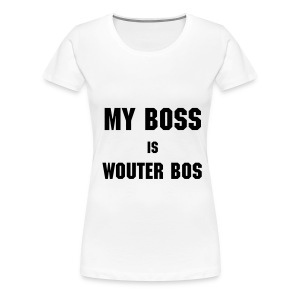 My Boss is Wouter Bos FEMALE - Women's Premium T-Shirt