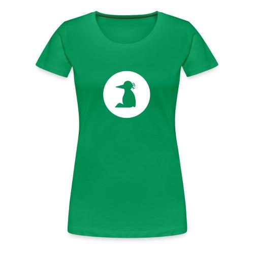 Frauen T-Shirt Pinguin Silhouette in weiß - Frauen Premium T-Shirt
