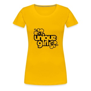 unique girl plain yellow - Women's Premium T-Shirt