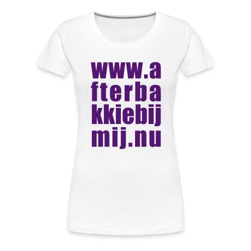 Afterbakkie, paars flex - Vrouwen Premium T-shirt