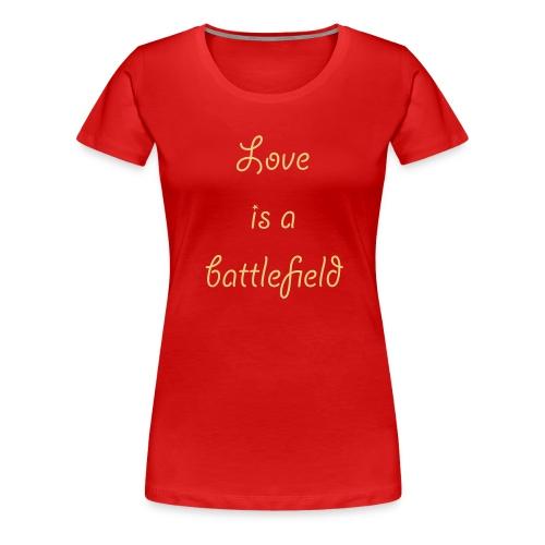 Love is - Frauen Premium T-Shirt