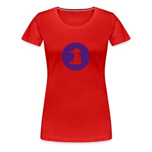Frauen T-Shirt Pinguin Silhouette in lila - Frauen Premium T-Shirt