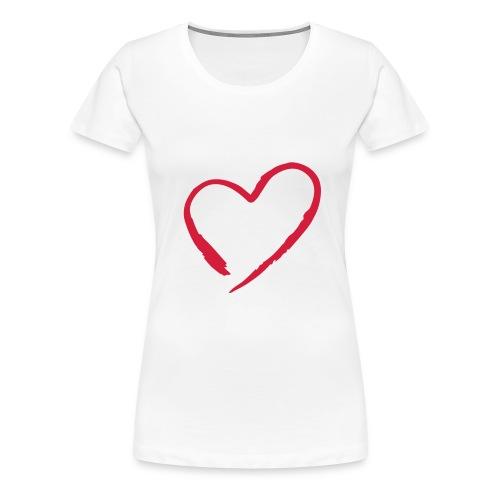 Frauen Girlieshirt klassisch mit Herz - Frauen Premium T-Shirt