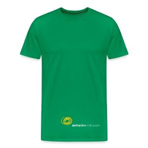 T-Shirt (Sackform) auch in anderen Farben ;) weiße Schrift - Männer Premium T-Shirt