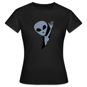 Alien in me (Silber -matt) - Frauen T-Shirt