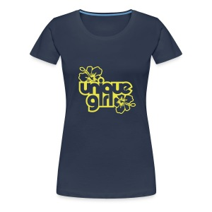 unique girl plain navy - Women's Premium T-Shirt