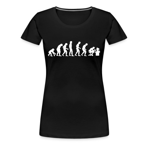 Evolution-Shirt (w) - Frauen Premium T-Shirt