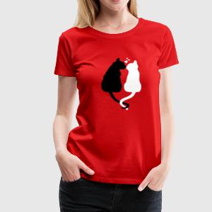 Love Cats Girlie-Shirt rot - Frauen Premium T-Shirt