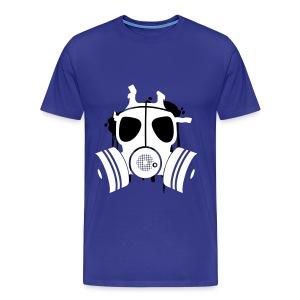 Gasmask- Blue - Mannen Premium T-shirt
