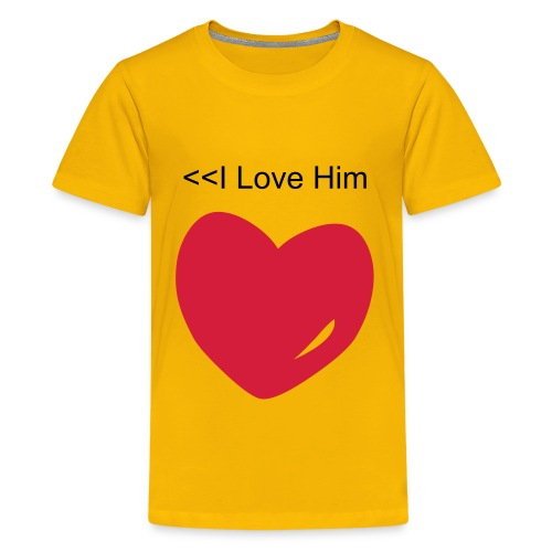 I Love Him T-Shirt Also Get I Love Her T-Shirt - Teenage Premium T-Shirt