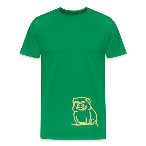 Trüffelschwein unten / Savoy Truffle hinten, Farbe wählbar - Männer Premium T-Shirt
