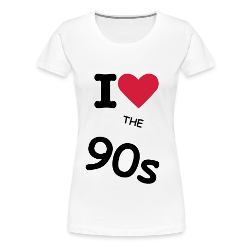 i love 90s - Women's Premium T-Shirt