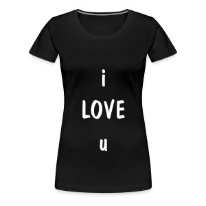 i love u - Women's Premium T-Shirt
